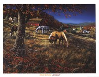 Hillside Gathering Fine Art Print