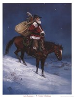 Cowboy Christmas Framed Print