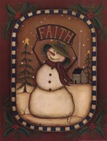 Faith Snowman Framed Print