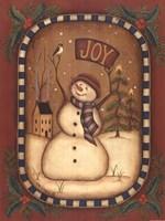 Joy Snowman Fine Art Print