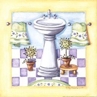 Yellow Bathroom - Sink Fine Art Print