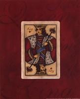 King - red Framed Print