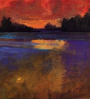 Sunset Lake Fine Art Print