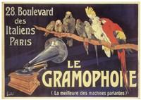 Gramophone Framed Print