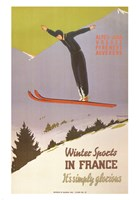 Winter Sports in France Fine Art Print