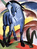 Blue Horse I Fine Art Print