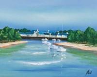 Port Breton - Voiliers Blancs Fine Art Print