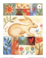 Rabbit Quilt Framed Print