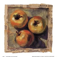 3 Yellow Apples Fine Art Print