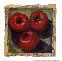 Three Tomatoes Framed Print