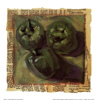 Three Green Peppers Fine Art Print