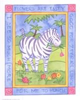 Munching Zebra Fine Art Print