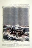 Titanic: Lifeboats Hand Colored Print