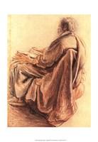Sepia Man Reading Fine Art Print