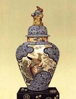 Oriental Blue Vase I Fine Art Print