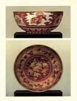 Oriental Bowl and Plate I Fine Art Print