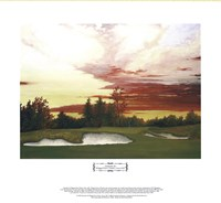 Sundown at Winged Foot's 10th Framed Print