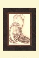 Sepia Boots II (HI) Fine Art Print