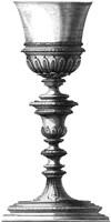 Black & White Goblet I (SC) Fine Art Print
