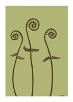 Dichromatic Fiddleheads I Fine Art Print