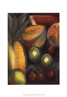 Luscious Tropical Fruit I Framed Print