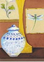 Dragonfly with Blue Porcelain Fine Art Print