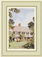 A Charming West Indian Plantation House Fine Art Print