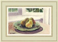 Still Life with Pears in a Sunny Window Fine Art Print