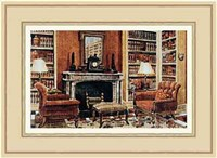 A Cozy Neoclassical Book Rooms Fine Art Print