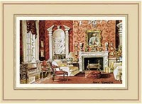 A Classic English Country House Drawing Room Fine Art Print
