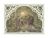 Raccoon's Masked Ball Fine Art Print