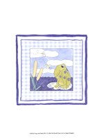 Frog with Plaid (PP) I Framed Print