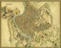 Map of Rome Fine Art Print