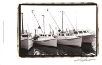 Work Boats Framed Print