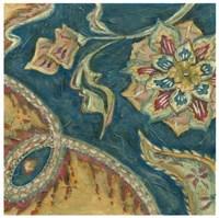 Lapis Paisley IV Framed Print
