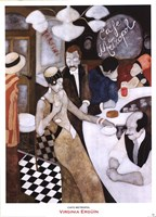 Cafe Metropol Fine Art Print