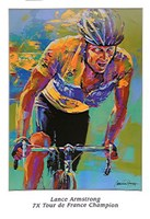 Lance Armstrong - 7X Tour de France Champion Fine Art Print