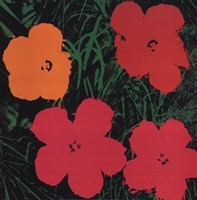 Flowers, 1964 (1 red, 1 yellow, 2 pink) Fine Art Print