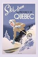 Ski Fun La Province de Quebec, 1948 Framed Print