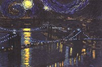 Starry Night over Brooklyn Bridge Fine Art Print