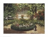 A Sunlit Flower Garden Fine Art Print