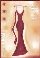 Red Evening Gown II Fine Art Print