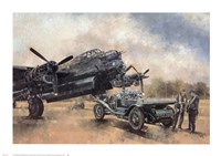 A Lancaster and a Bentley Fine Art Print