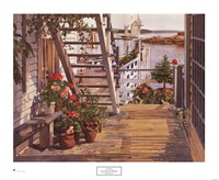 Blue Stair and Begonias, 1987 Fine Art Print