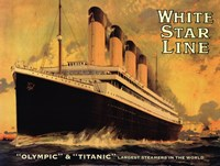Olympic & Titanic Framed Print