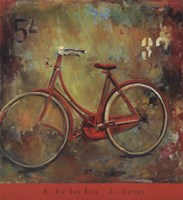 My Old Red Bike Fine Art Print