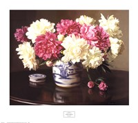 Peonies in Ginger Jar Fine Art Print