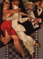 Tango a Robe Rouge Fine Art Print