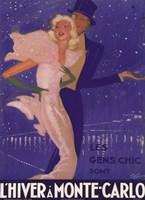L'Hiver a Monte Carlo Fine Art Print