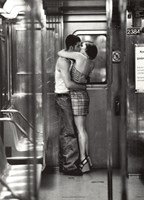 Subway Kiss Framed Print